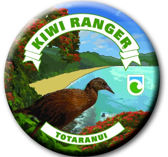 Totaranui Kiwi Ranger badge featuring a weka.