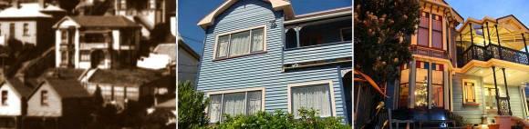 Ashley's Mt Victoria villa: 1910, 1988 and 2010.
