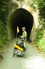A tunnel on the Rimutaka Rail Trail.