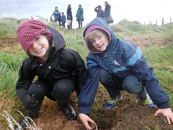 The students helped revegetate a fairly large area of Whareroa Farm, which they will be able to monitor and watch slowly turn back into native bush over the years to come.