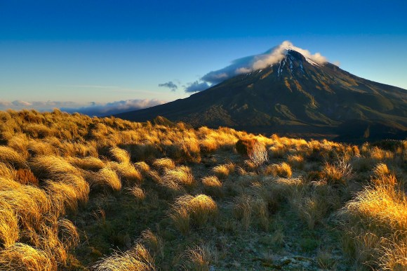 Mount Taranaki in the Egmont National Park. Photo: Malcolm Peacey.