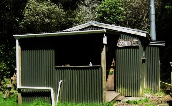 Bog Inn Hut from outside.