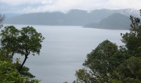 Looking across Lake Waikaremoana in Te Urewera National Park.