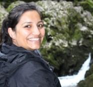 Manisha Patel at the source of the Riwaka River.