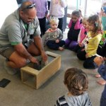 Ranger Joe at Gisborne's Ormond Kindergarten.