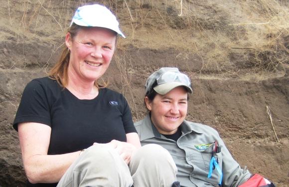 Ranger Mel and Andrea Crawford on Boulder Beach.