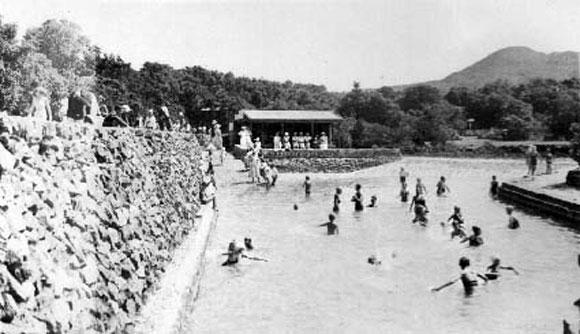 Rangitoto's seawater pool.