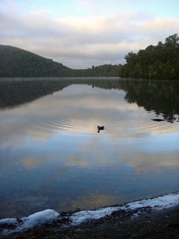 Sunrise over Lake Rotopounamu.