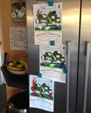 Balance Green Time with Screen Time charts on the fridge.