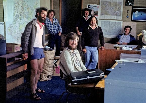 Rod Hay with the Kokako Research Group in 1978.