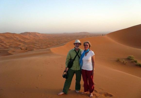 Rod at Erg Chebbi in Morocco.
