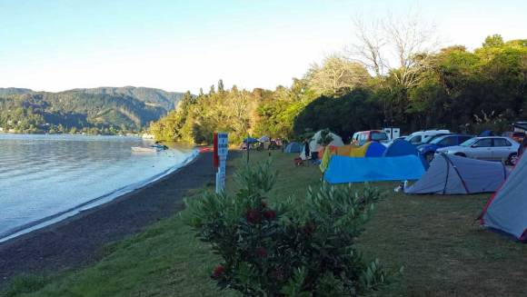 Lake Okareka campsite in beautiful Rotorua. Photo: Elizabeth Marenzi.