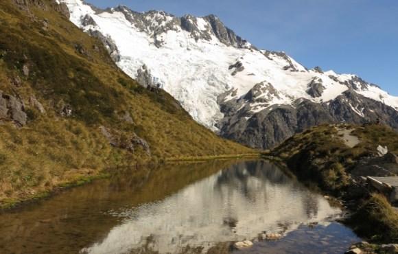 The alpine landscape on the way to Mueller Hut. Photo: Don Herron.