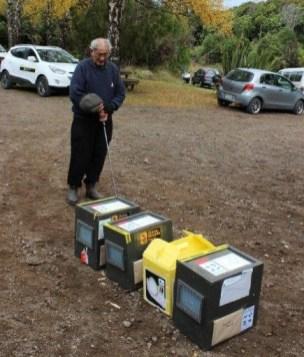 Karakia before the kiwi release. Photo: Nina Mercer.