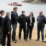 Prince Harry with Brent Beaven and Ulva Island Trustees