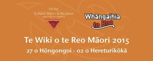 Te Wiki o te Reo Māori 2015, Māori Language Week