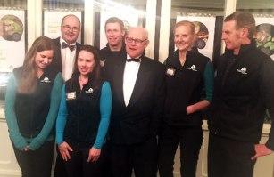 From left: Karen Andrew, Lou, Deidre Vercoe, Andrew Digby, Ruud Kleinpaaste, Jo Ledington, Daryl Eason