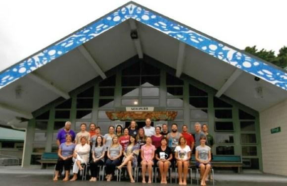 Participants on Te Pukenga Atawhai at Matatau Marae, Northland.