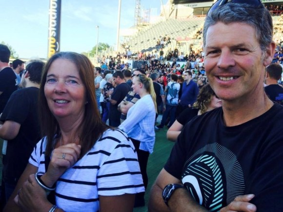 Waiting for The Foo Fighters to come on stage in Christchurch.