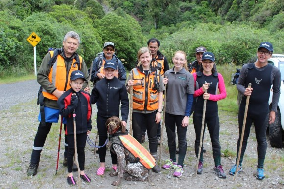 Whio group all kitted out in their whio river gear.