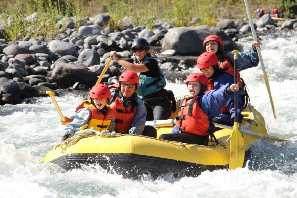 Rafting on the Tongariro River.