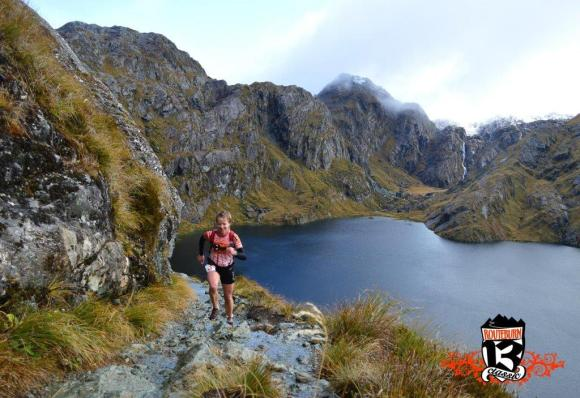Helen running the Routeburn Classic.