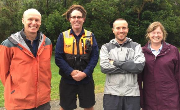ZIP CEO Al Bramley with team members Duncan Kay, Phil Bell and Elaine Murphy.
