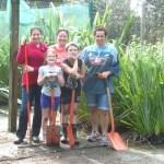Volunteers at Trounson Park Kauri Park.
