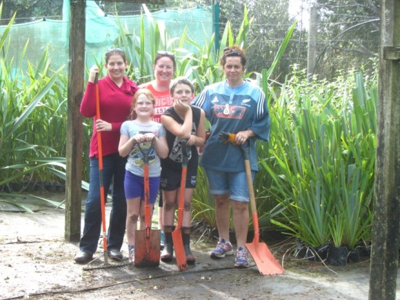 Earth Day volunteers at Trounson Park Kauri Park.