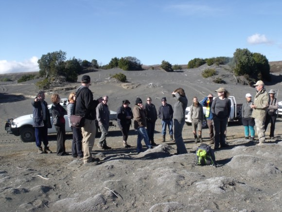 Field trip to the volcanic dunes. Photo: Michael Bergin