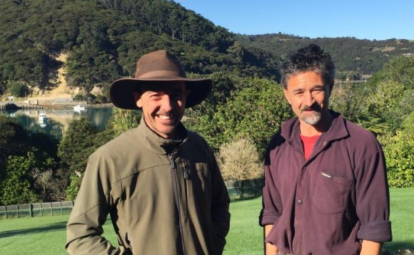 At Glenfern Sanctuary – Scott Sambell and Geoff Woodhouse.