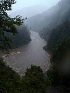 """A flooded Mokihinui River"" Photo Don Herron."