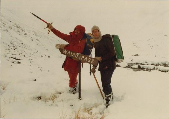 1983, Waiau Pass with my friend Chris Heaphy. Onwards and upwards