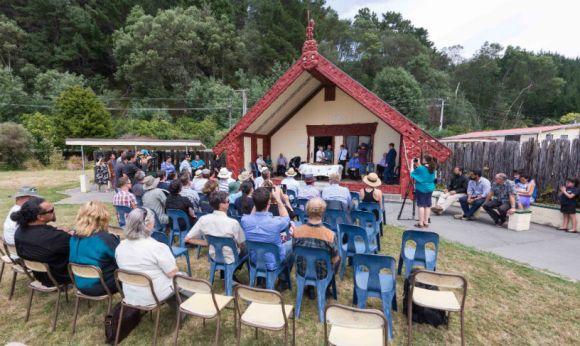 The signing ceremony at Tangoio marae. Photo: Lauren Buchholz