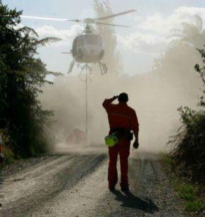 Waitomo fire, February 2008.