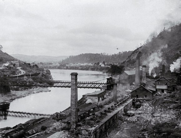 Firebrick and coke-making area of the coal mine at Brunner circa. 1980.