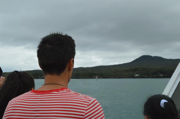 Arriving at Rangitoto Island.