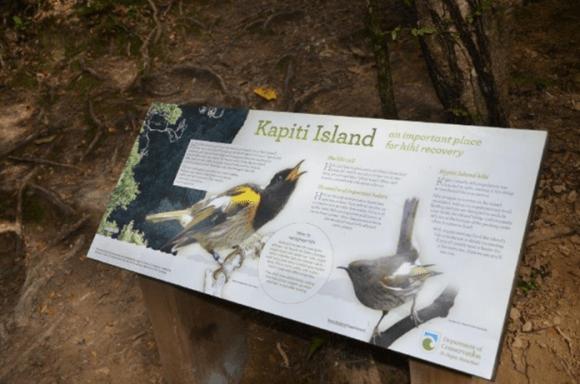 New interpretation panels on Kapiti Island.