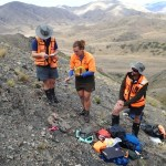 A DOC field team at a biodiversity monitoring site in the Molesworth.