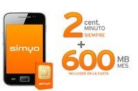 simyo responde con llamadas a 2 céntimos y 600 MB por 4,9 euros
