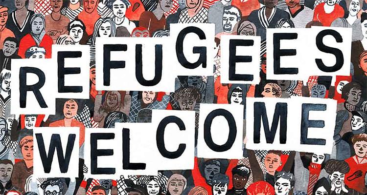 Refugees Welcome Sampler von Springstoff