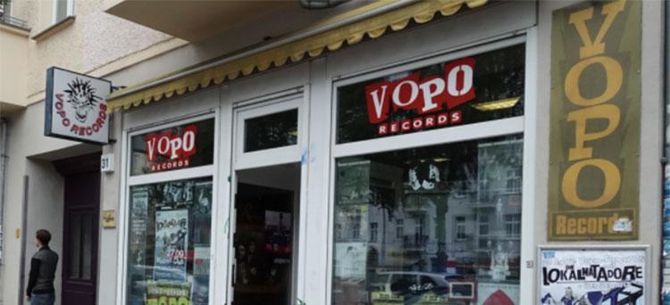 Schaufenster von Vopo Records
