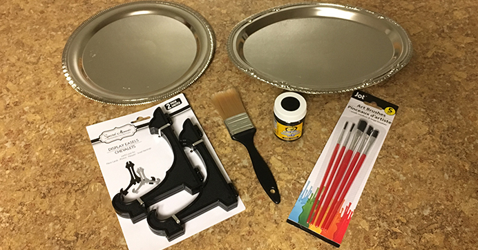 Supplies for DIY Chalkboard Trays