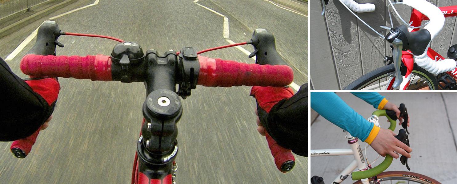 Impugnare un manubrio per bici da corsa