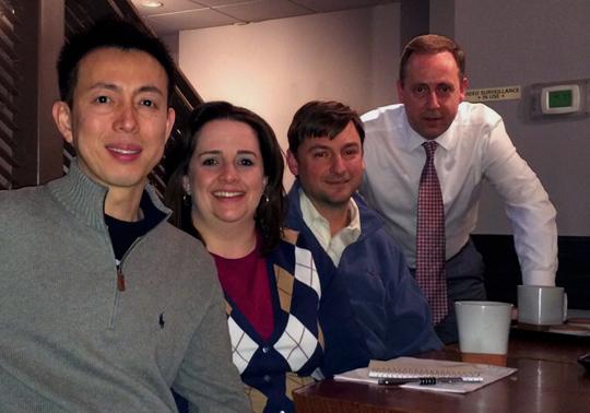 Photo of Guy and Methee of Zen Tara Tea and David & Hillary of Dominion Tea
