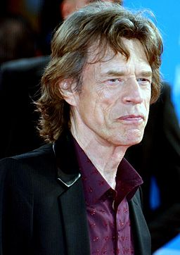 Mick Jagger, lead for The Rolling Stones, takes his tea at 3.