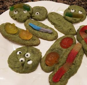 Matcha cookies for Halloween.