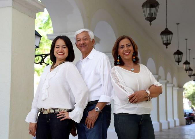 Karina López, Osvaldo Soriano y Mayra De Peña