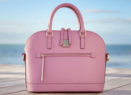 Dooney & Bourke satchel in light mauve.