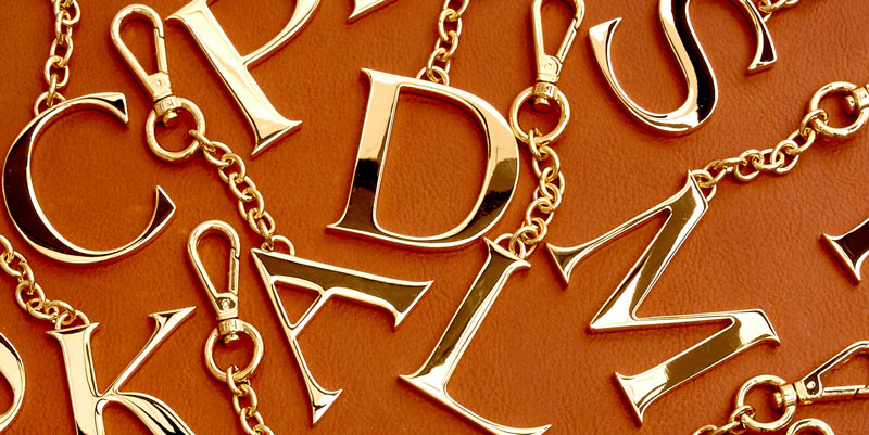 Our Monogram Pendants coated in 24k gold.